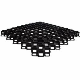 Plastic paver MULTI GRID black