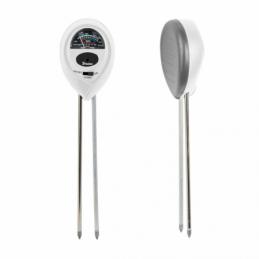 WHITE LINE 3 function garden meter - OVAL