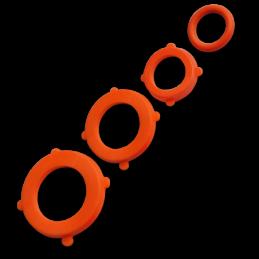 BLACK LINE Gaskets - ORANGE set 4 x 6pcs