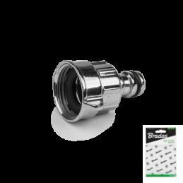 "1"" / 3/4"" female tap adapter ZINC CHROME - Display bag"