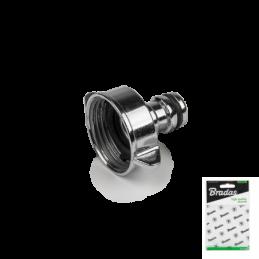 "1"" female tap adapter ZINC CHROME - Display bag"