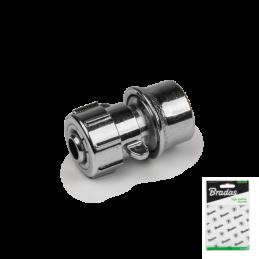 "1/2"" quick connector STOP ZINC CHROME - Display bag"