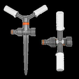 WHITE LINE 2-arm rotating sprinkler on spike - blister