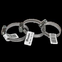 Stainless zebra hose clamp BRADAS 16-27mm