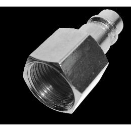 "Hose plug with 1/2"" female - STEEL-CHROME"
