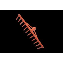 Traditional PVC 12-tine rake