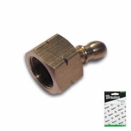 "Two-segment connector 3/8""L female / 9-10mm BRASS"