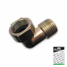 "Elbow connector 1/2"" male x 1/2"" female - ZINC"